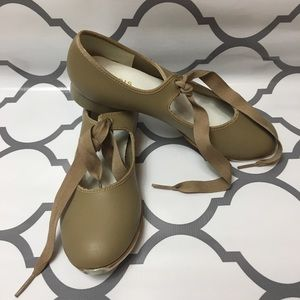 Illinois theatrical tan tap shoes 5 1/2